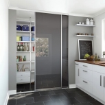 Our products are so versatile that you can use them in a utility room to store away all your groceries. Our sliding doors make perfect room dividers.